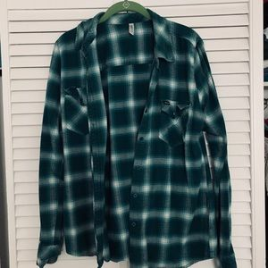 RVCA Sea-Green Flannel